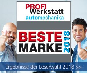 Ergebnisse der Leserwahl Beste PROFI Werkstatt Marke 2018