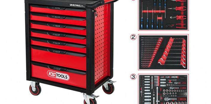 Roter Racer – Neuer Werkstattwagen von KS Tools